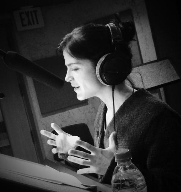 Selma Blair in studio giving a voice to Eva Hesse
