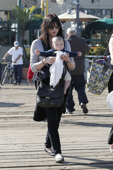 Selma Blair & Son Santa Monica Pier