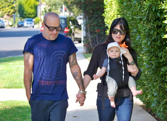 Selma Blair's Sweet Stroll With Beau & Baby