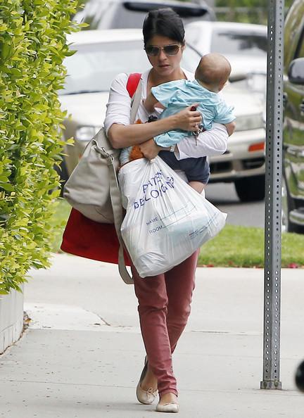 Selma Blair & Baby Arthur Return Home