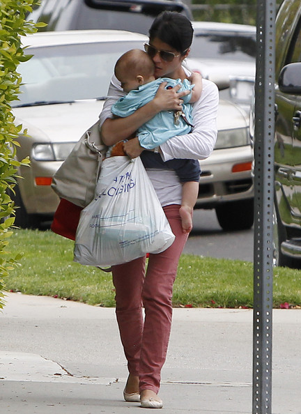 Selma Blair & Baby Arthur Return Home