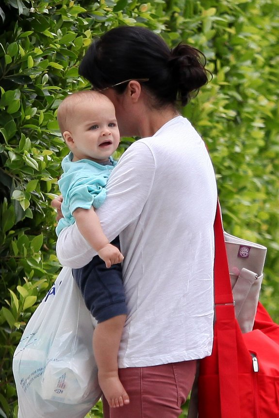 Selma Blair & Baby Saint Return Home