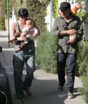 Selma Blair & Family Walking Home From Party
