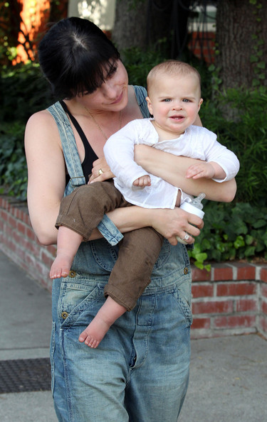 Selma Blair & Family Walking Home From Birthday Party