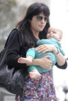 Selma Blair & Baby Arthur Hit The Gym