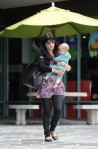 Selma Blair & Baby Arthur Hit The Gym 10