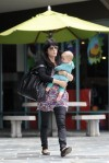 Selma Blair & Baby Arthur Hit The Gym 11