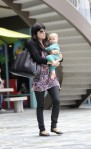Selma Blair & Baby Arthur Hit The Gym 12