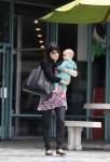 Selma Blair & Baby Arthur Hit The Gym 8