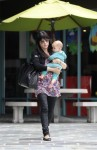 Selma Blair & Baby Arthur Hit The Gym 9