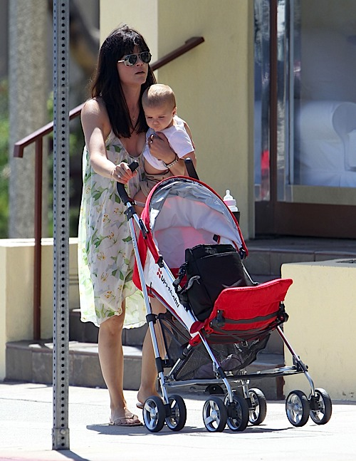 Selma Blair & Saint Go For A Check Up