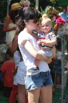 Selma Blair and Arthur Saint Bleick at the petting zoo