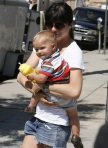 Selma Blair & Son Arther Visit Petting Zoo