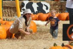Selma Blair & Arthur Saint Pumpkin Patch