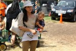 Selma Blair & Son Arthur Pumpkin Patch Fun 14