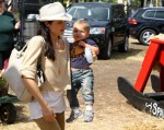 Selma Blair & Son Arthur Pumpkin Patch Fun 16