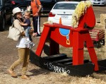 Selma Blair & Son Arthur Pumpkin Patch Fun 27
