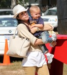 Selma Blair & Son Arthur Pumpkin Patch Fun 28
