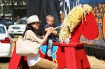 Selma Blair & Son Arthur Pumpkin Patch Fun 29
