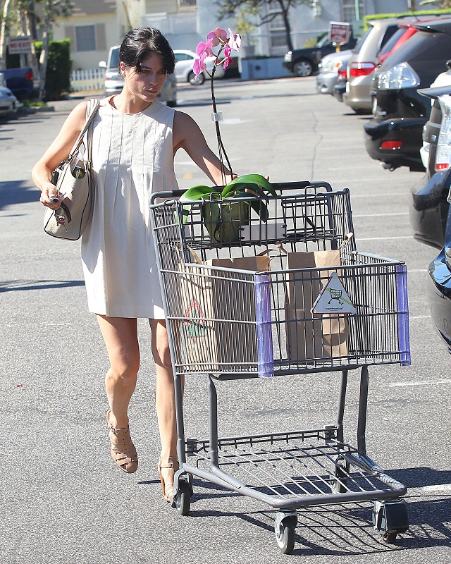 Selma Blair Stops At Bristol Farms 6