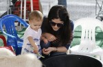 Selma Blair & Arthur Saint Farmers Market Fun 8