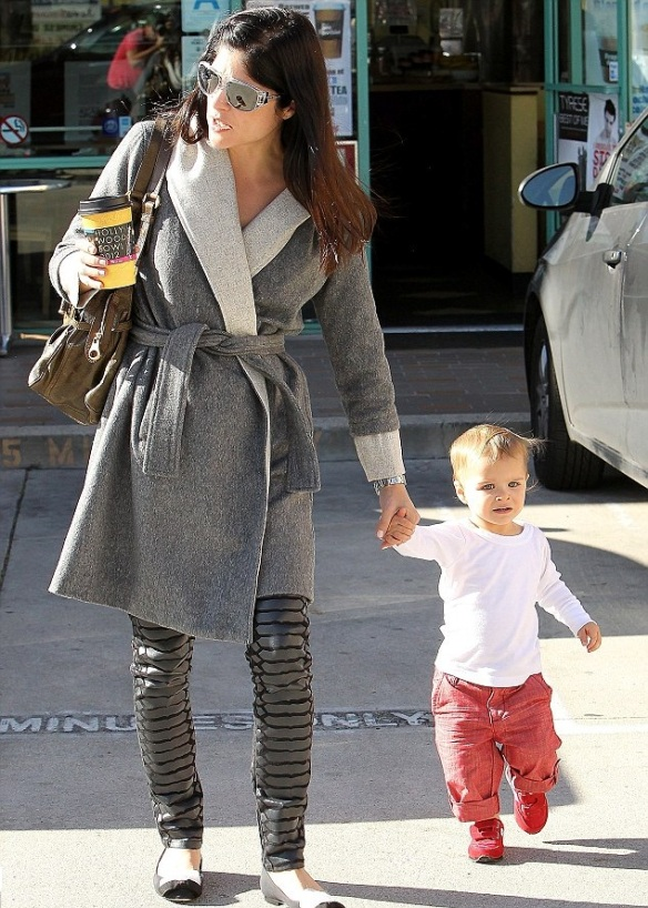 Selma Blair Coffee Run With Little Saint