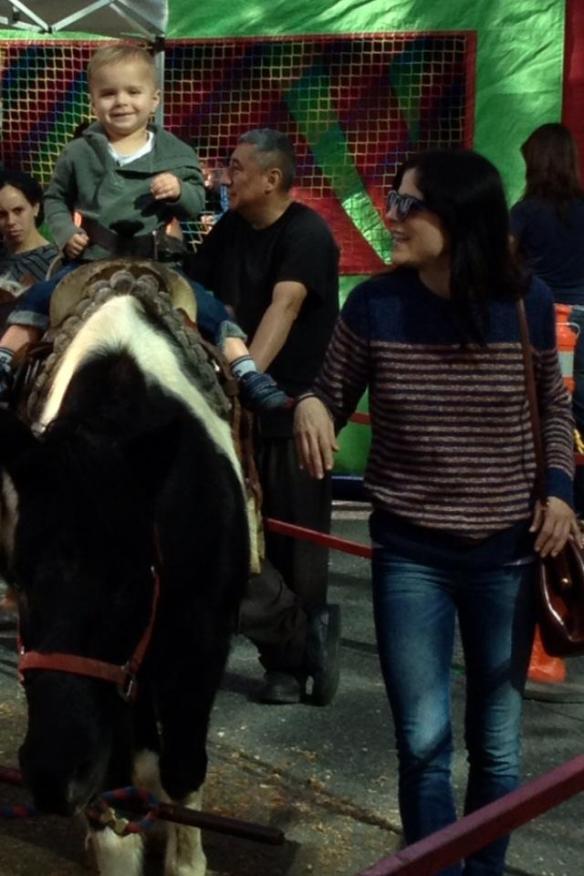 Selma Blair Takes Arthur To Ride The Ponies