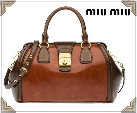 Miu Miu Fall/Winter 2012 Bicolor Shine Calf Leather Bag