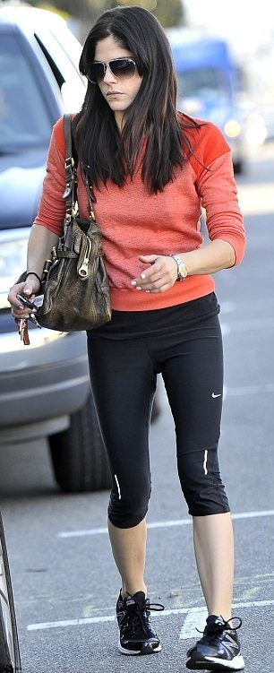 Selma Blair Works Out