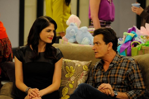 Charlie Sheen & Selma Blair Anger Management Baby Shower 2