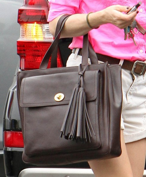 Selma Blair Carrying Coach Bag January 2013