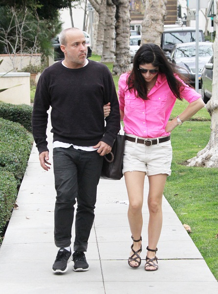 Selma Blair & Jason Bleick Out & About In Los Angeles January 2013