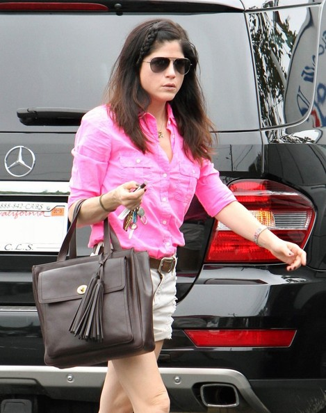 Selma Blair Pretty In Pink At Fred Segal