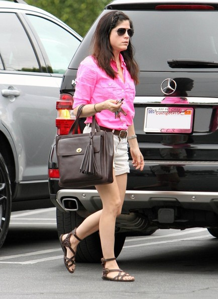 Selma Blair Pretty In Pink At Fred Segal