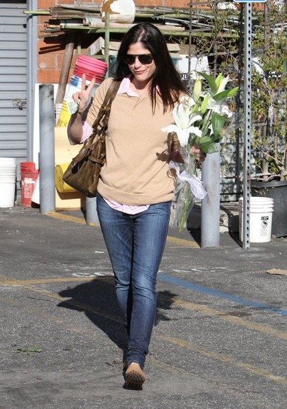 Selma Blair Stops For Flowers