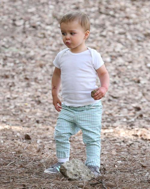 Arthur Saint Bleick at the park with his mommy Selma Blair