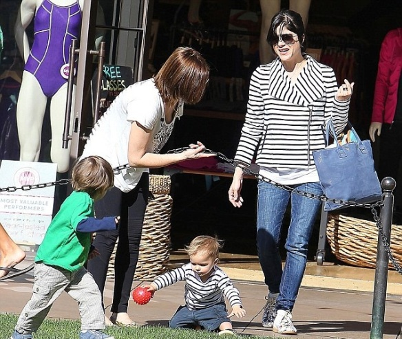 Selma Blair and Arthur Saint Bleick at The Grove