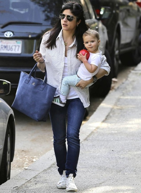 Selma Blair and son Arthur Saint Bleick at the park Feb 2013