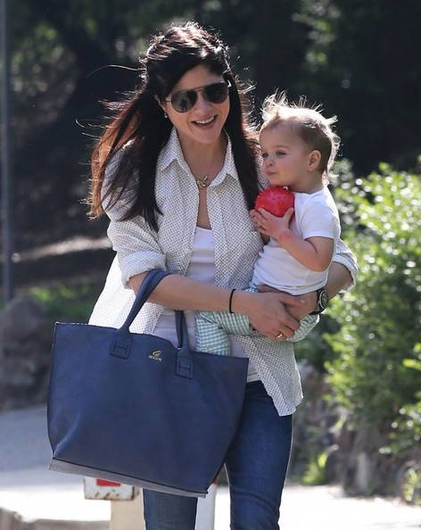 Selma Blair & Son Playtime At The Park 1