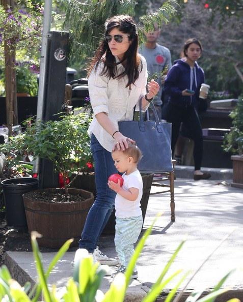 Selma Blair & Son Playtime At The Park 11