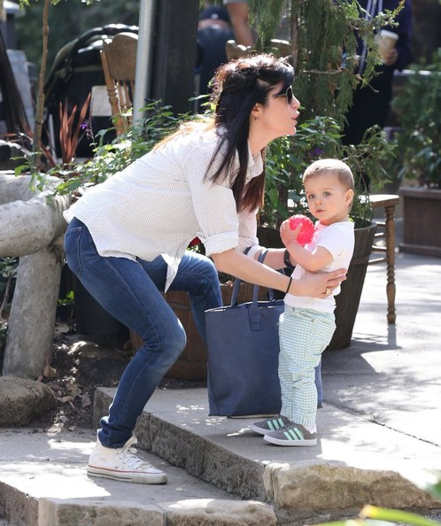 Selma Blair & Son Playtime At The Park 12