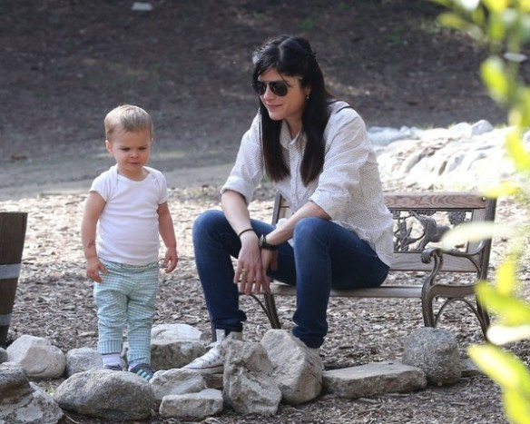 Selma Blair & Son Playtime At The Park 13
