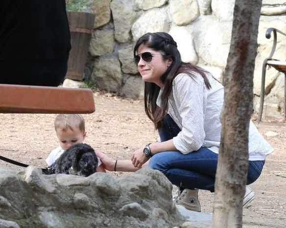 Selma Blair & Son Playtime At The Park 19