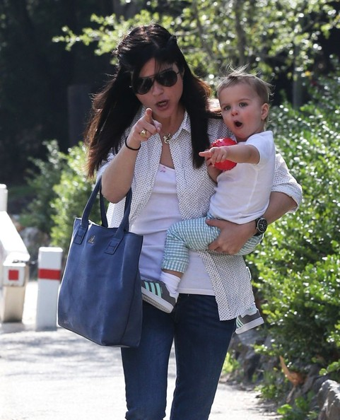 Selma Blair & Son Playtime At The Park 2