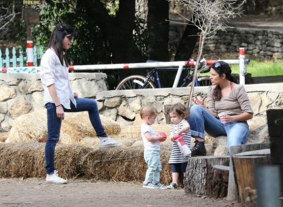 Selma Blair & Son Playtime At The Park 23