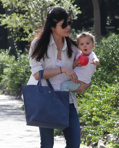 Selma Blair & Son Playtime At The Park 4