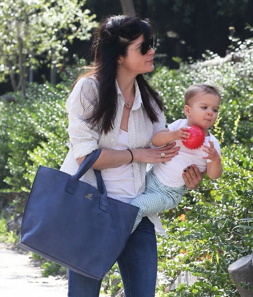 Selma Blair & Son Playtime At The Park 5