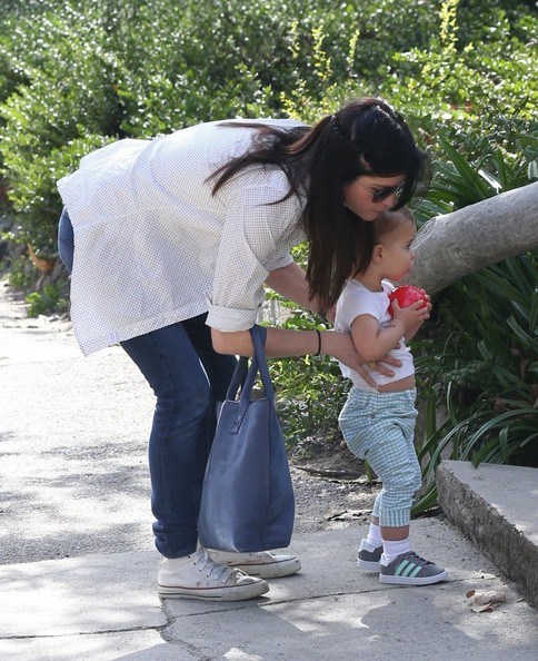 Selma Blair & Son Playtime At The Park 6