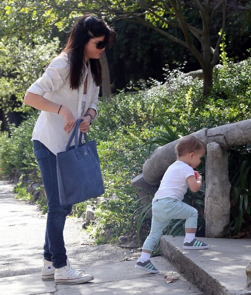 Selma Blair & Son Playtime At The Park 7