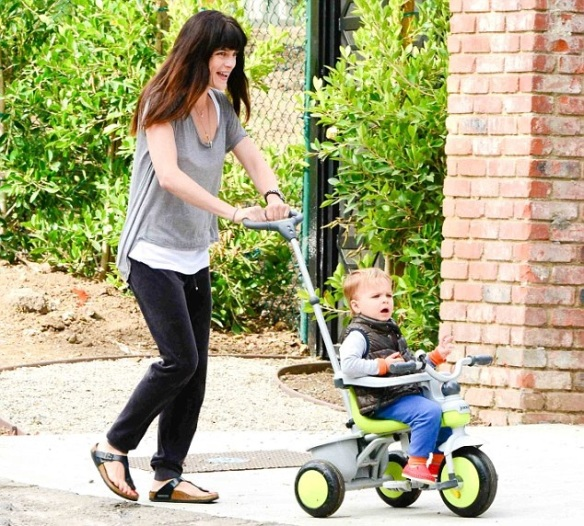 Selma Blair & Arthur Saint Go For A Walk